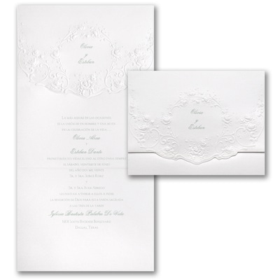 Shimmering Roses - Invitation