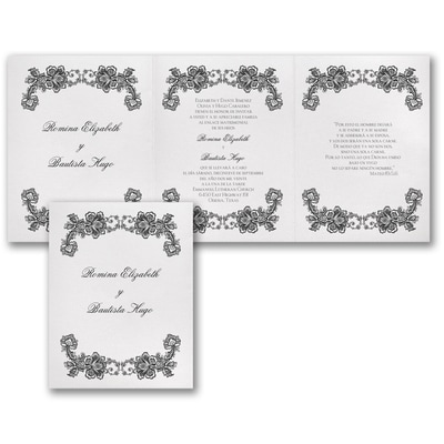 Flower and Lace - Invitation