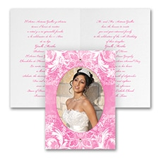 Quinceañera Invitation: Watercolor Lace