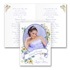 Quinceañera Invitation: Portrait of Beauty