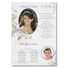 Quinceañera Invitation: Feminine Florals