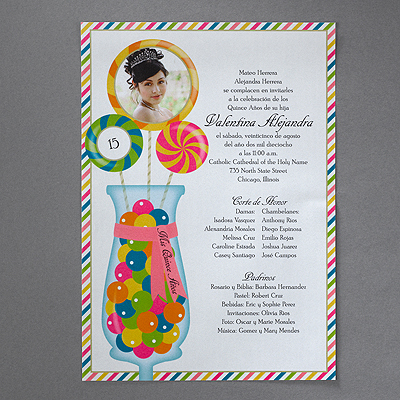 Sweet Celebration - Invitation Scroll