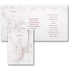 Elegant Carriage - Invitation - Pink