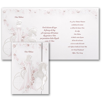 Elegant Carriage - Invitation - Pink