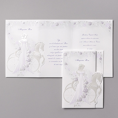 Elegant Carriage - Invitation - Purple
