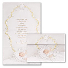First Blessing - Baptism Invitation - Pink