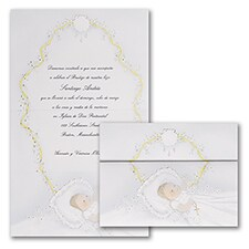 Baptism Christening Invitation: First Blessing