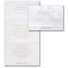 Wedding Invitation: Romantic Swans
