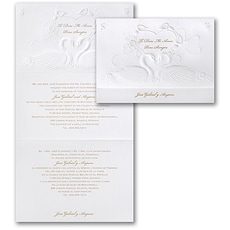 Romantic Swans - Wedding Invitation