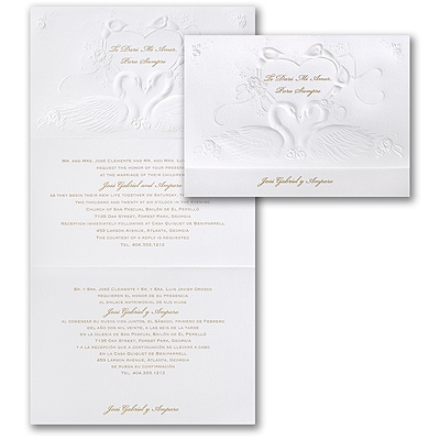 Romantic Swans - Invitation