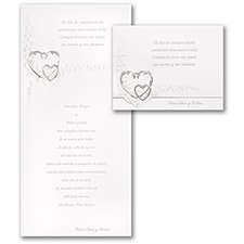 Wedding Invitation: Sterling Hearts
