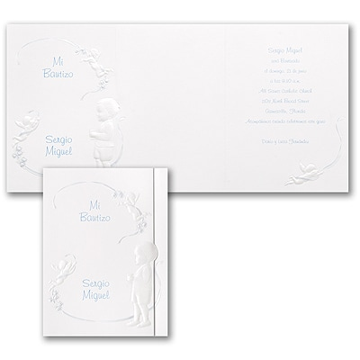 Sacred Day - Baptism Invitation - Blue