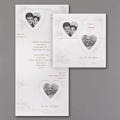 Hearts and Roses - Invitation with Photos