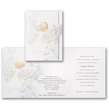 Baptism Christening Invitation: Blessed Boy