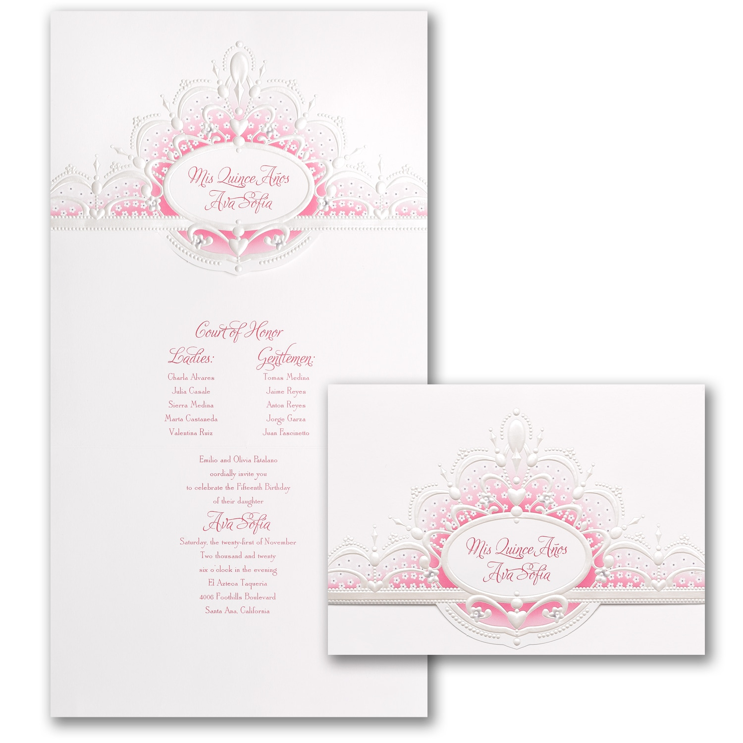 Quince Crown Invitation Quinceanera Carlson Craft Wedding