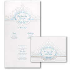 Quince Crown - Invitation - Aqua