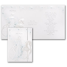 Elegant Carriage - Invitation - Aqua