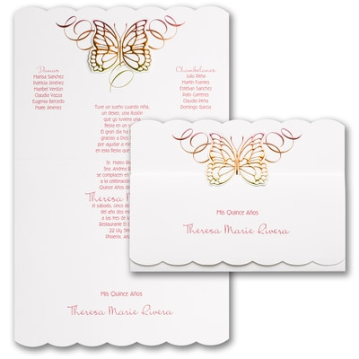 Beautiful Butterfly - Invitation