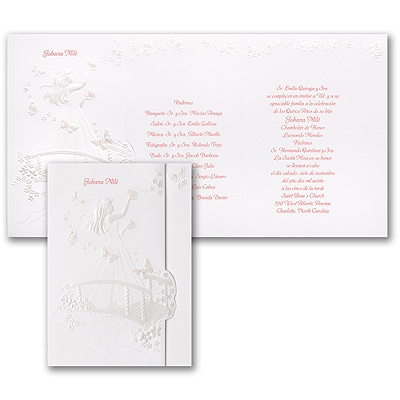 Blushing Butterflies - Invitation - Pink