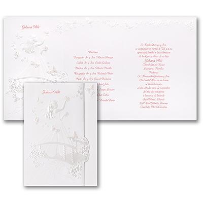 Blushing Butterflies - Invitation - Pink