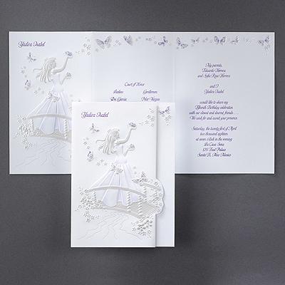 Blushing Butterflies - Invitation - Purple