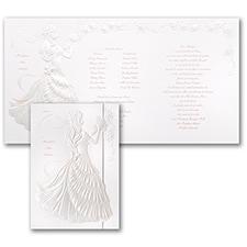 Delicate Silhouette - Quinceañera Invitation