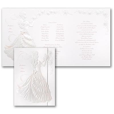 Delicate Silhouette - Invitation - Pink
