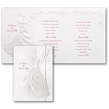 Delicate Silhouette - Invitation - Pearl