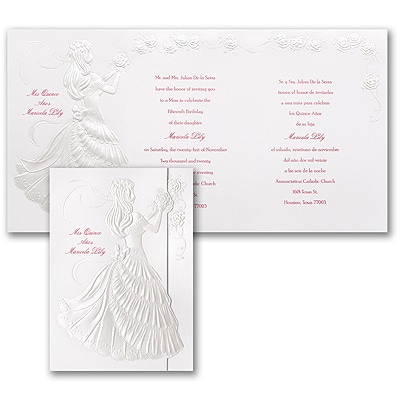 Delicate Silhouette - Invitation - Pearl