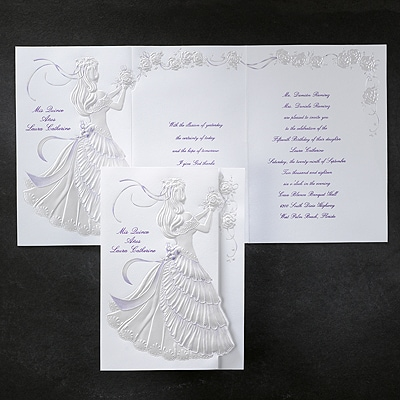 Delicate Silhouette - Invitation - Purple