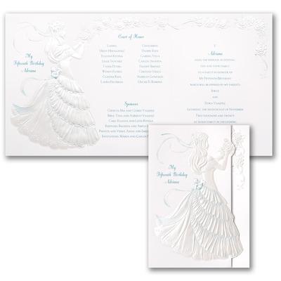 Delicate Silhouette - Invitation - Aqua