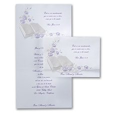 floral invitation: Perfect Love Purple