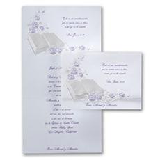 Perfect Love Purple - Wedding Invitation