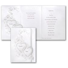 floral invitation: Devoted Hearts