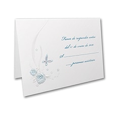 Butterflies and Ribbons - Response Card and Envelope - Aqua