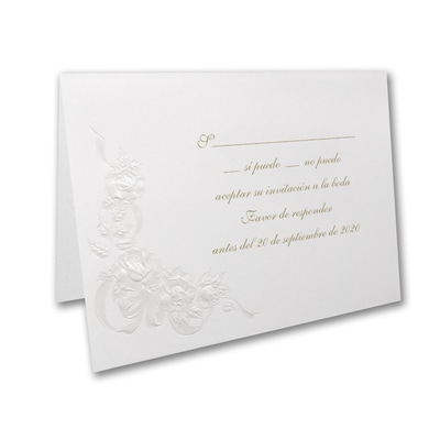 Sparkling Roses - Response Card and Envelope