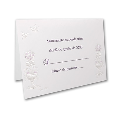 Grand Wedding Gazebo - Response Card and Envelope