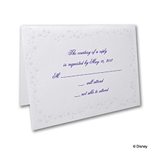 Cinderella's Carriage - Response Card and Envelope