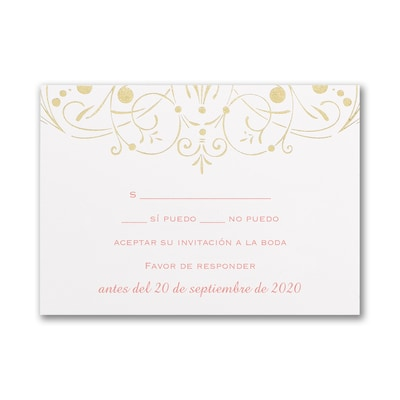 Enchanted Evening - Response Card and Envelope - Gold
