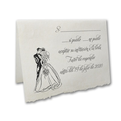 Happily Married - Response Card and Envelope