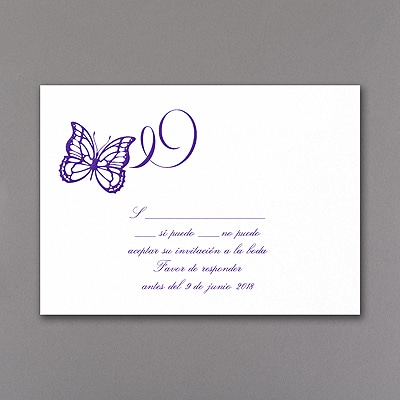 Fluttering Celebration - Response Card and Envelope