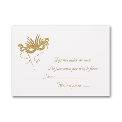 Golden Masks - Response Card and Envelope