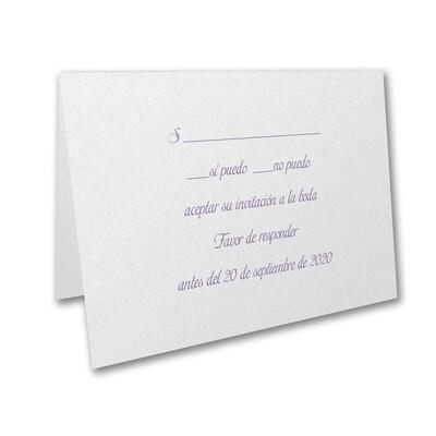 Response Folder and Envelope - White Shimmer