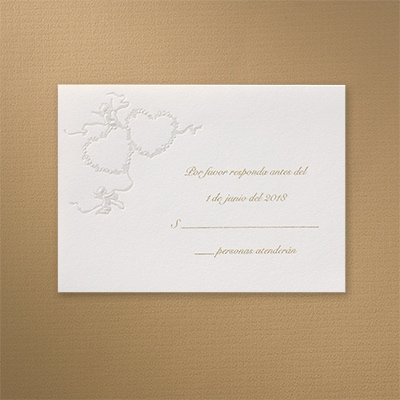 Captivating Cupids - Response Card and Envelope