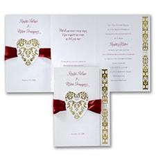 Hearts and Ribbons - Invitation