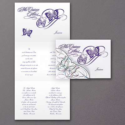 Fluttering Celebration - Invitation