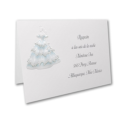 Magical Gardens - Reception Card - Aqua