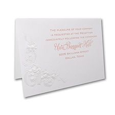 Beribboned Roses - Reception Card