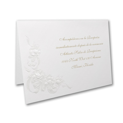 Sparkling Roses - Reception Card