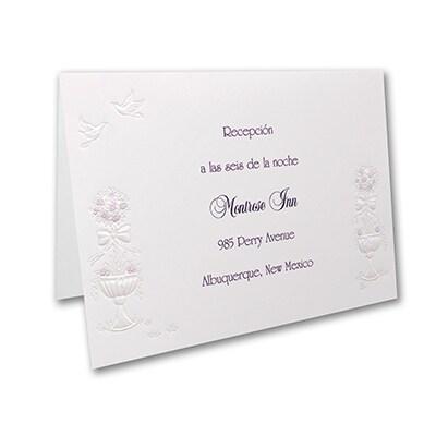 Grand Wedding Gazebo - Reception Card